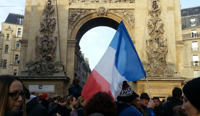 Joining the historic rally in Paris