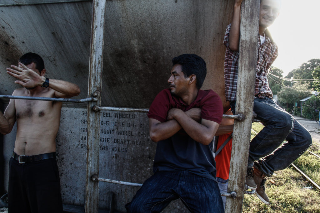 Immigrants are ready to ride the beast in Arriaga, Chiapas