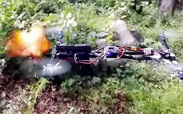 gun mounted drone