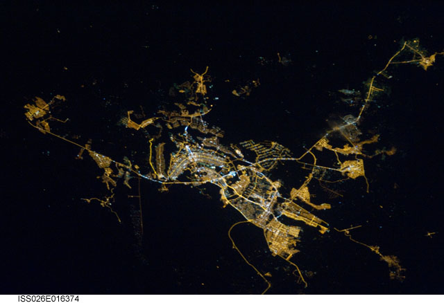 Brasilia, Brazil from space