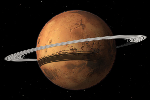 Mars with ring