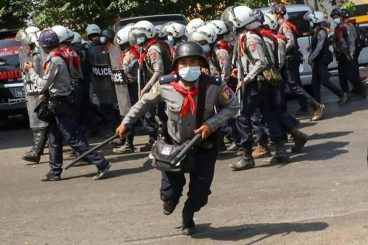 Myanmar military protest